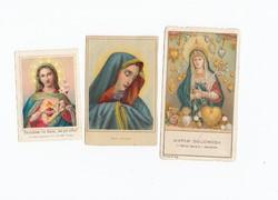 Vallási kártyák vegyesen 3 db 1930-1950