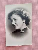 Régi női fotó vintage Braun fénykép
