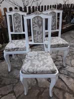 Vintage , provence neobarokk székek új ruhában