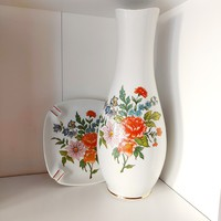 Hollóházi váza és hamutál