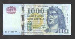 "1000 forint 2015. ""DD"". UNC!!"