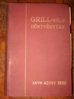 GRILL FÉLE DÖNTVÉNYTÁR XXVIII. KÖTET 1930
