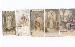 Vallási kártyák vegyesen 5 db 1922