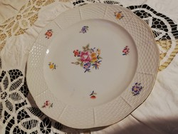 Eladó antik porcelán Herendi virágos süteményes tál!