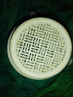 Antik,hibátlan ,hófehér porcelán szűrő ,bögre formájú.....