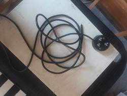 Retro tárcsas  telefon vezeték dugvillaval