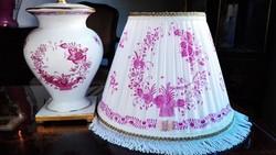 Pur-pur Indiaikosr mintás Herendi porcelán asztali lámpa