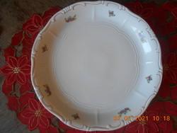 Zsolnay virágcsokor mintás süteményes tál