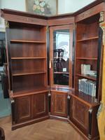 Empíre sarok könyves szekrény
