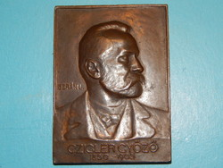 Ziegler Győző (1950-1905) építész bronz plakettja