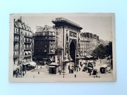 Régi képeslap 1929 Paris Párizs utcakép levelezőlap