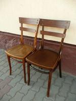 2 db antik, jelzett eredeti, egyforma szecessziós Thonet szék párban eladó  stabil állapotban