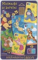 Magyar telefonkártya 0611 1999 Micimackó és barátai       ODS 4      18.000  darab