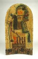 1D377 Györgyey Zsuzsa : Huszár samott falikép 42.5 x 23.5 cm