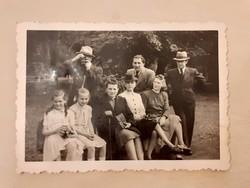 Régi fotó csoportkép 1930 körül fénykép