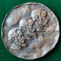 Madarassy Walter: Korányi, Fodor, Markusovszky, bronz plakett, érem