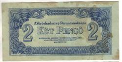 2 pengő 1944 VH. 4. Hajtatlan, foltos