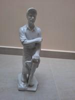 Fehér Herendi Bányász Férfi figura