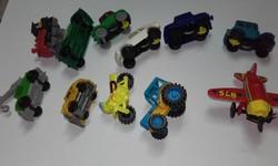 Régi,retro  lenkerekes játék  kisautók,motor,repülő,11 db!
