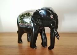 Lakkfa indiai elefánt figura