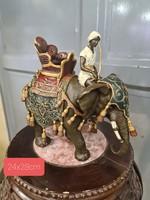 Festett bronz elefánt bécsi stílusban