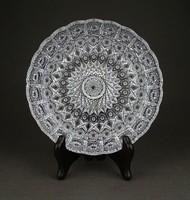 1D523 Régi hibátlan ólomkristály tányér 15 cm