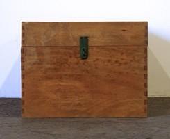 1D473 Nagyméretű fa láda tároló doboz 42 x 55 x 76 cm