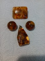 Amber? Brooch, clip and pendant