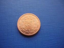 PORTUGÁLIA 2 EURO CENT 2011 ! UNC! RITKA!