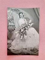 Régi esküvöi fotó menyasszony Braun fénykép