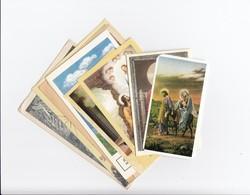Vallási képeslap és kártyák vegyesen 10 db 1933-1970