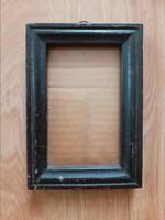 Antik képkeret üveglappal. 17x12 cm