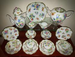 Herendi antik Viktória teás + sütis készlet 23db! Gyönyörű !