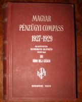 MAGYAR PÉNZÜGYI COMPASS 1927-1929 III.KÖTET: TÖRV.BEJ.CÉGEK