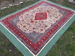 IRÁNI kézi csomózású gyapjú PERZSA szőnyeg, 249 x 350 cm