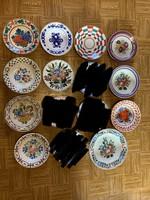 Népi festett falitányérok ! Fali tányér ! Hollóházi , Apátfalvi , Bélapátfalvi