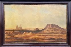 Reiszman Károly Miksa / Egyiptomi sivatagi táj utazókkal
