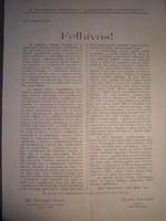 Református püspök felhívása 1945 Pápa - Bőny Rétalap irat dokumentum . Igeiglenes nemzeti kormány