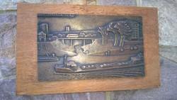 Szolnok-tisza 1975 bronze relief-mural -simon ferenc alk.
