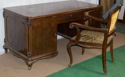 Antik Neobarokk Íróasztal székkel