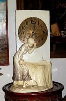 Antik Augmüller Wien 1/4 ütős Kandalló óra