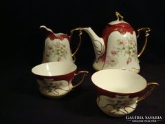 Antik fenséges aranyozott porcelán teás készlet