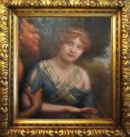 Faun és a fiatal nő