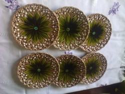 6db német majolika, Villeroy@Boch gyöngyvirágos tányér