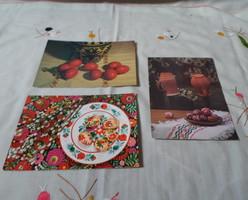 Régi magyar képeslap 14.: húsvét 4. (1970-es évek, kerámia, népművészet)