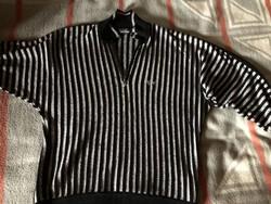 Carlo Colucci vintage stílusú kötött csíkos pulóver - exkluzív - Only for Japan !!