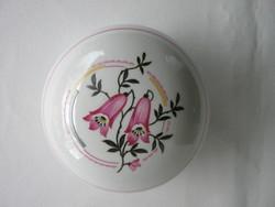 Zsolnay porcelán harangvirágos bonbonier vagy ékszertartó