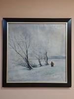 Poós Jenő havasi táj festmény
