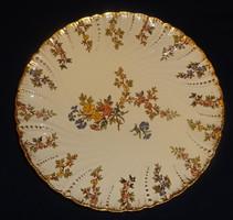 Antik Sarreguemines fajansz süteményes tányér Louis dekorral.