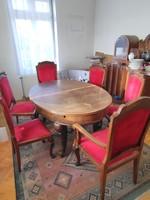 Étkezőasztal garnitúra